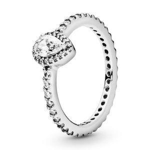 🍓Pandora Classic Teardrop Halo Ring
